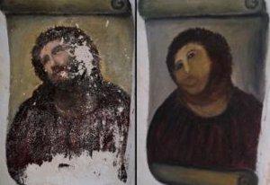 Під час спроби реставрації була зіпсована фреска XIX століття